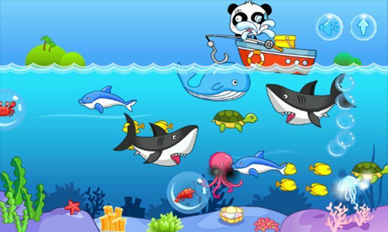 点击各种可爱的海洋生物将他们钓上船,不过要小心庞大的鲸鱼和鲨鱼哦