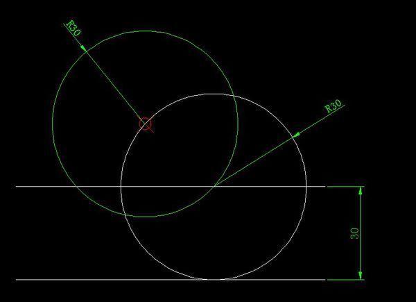 一个点一条线用CAD画出处于点并相切直cad样式文字一直怎么让经过宋体中是图片