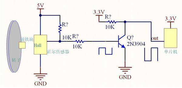 霍尔传感器测速电路图_霍尔传感器测速电路