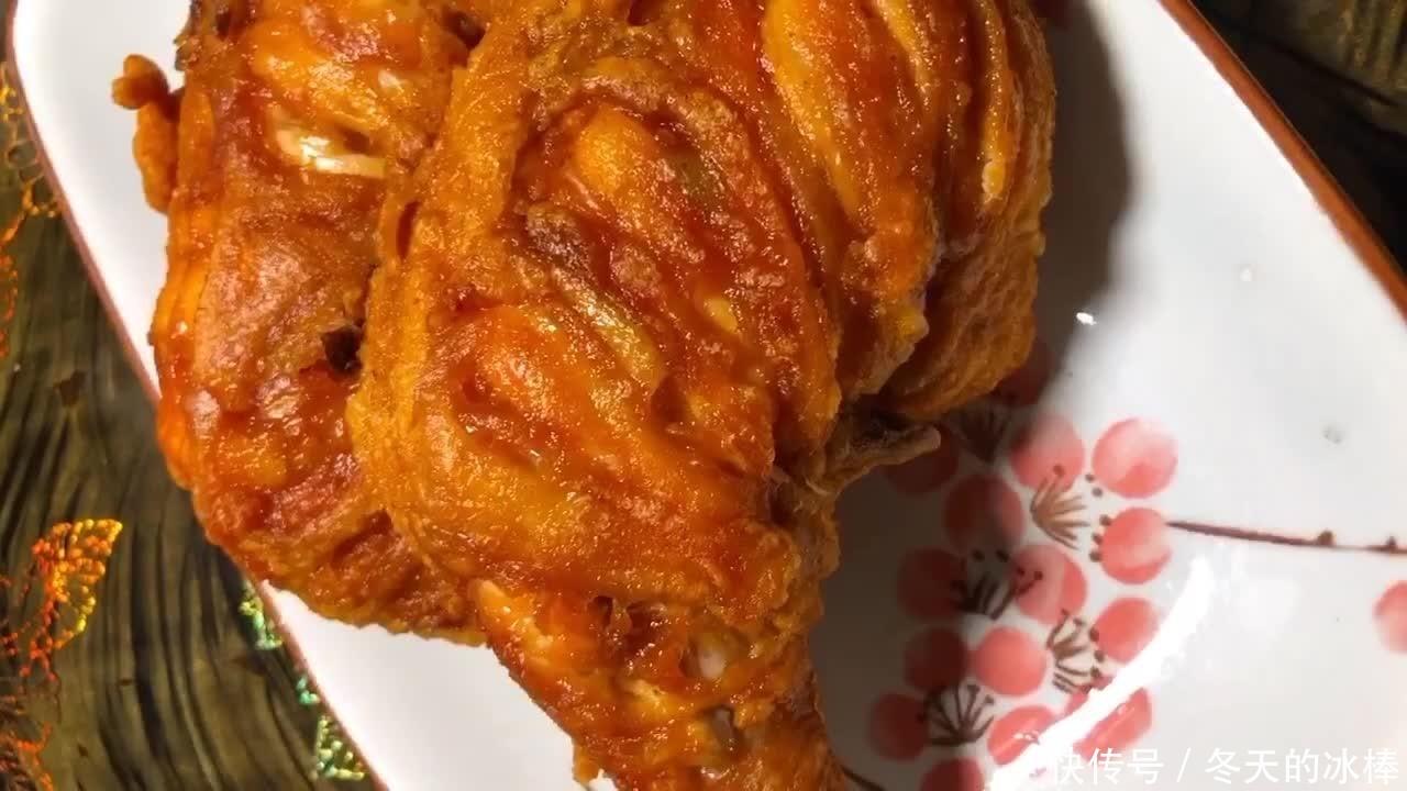 炸鸡腿时裹面粉还是淀粉?2种方式任选其中1种,担保外焦里嫩!