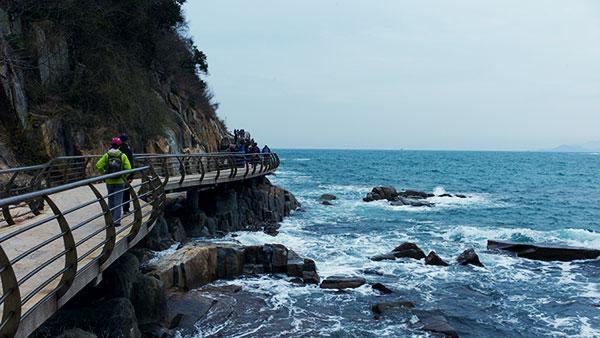 深圳大梅沙:世界最长海滨栈道