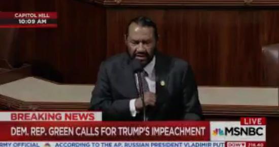 美国会议员呼吁弹劾特朗普