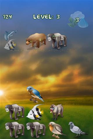 在这个拼图游戏你必须结合动物创造了魔法元素的土地,空气和水.