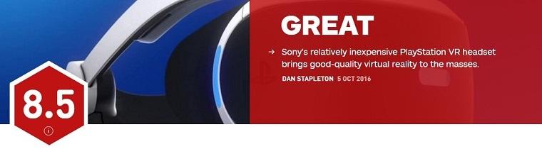 IGN评PSVR