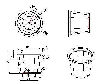 求大神帮忙画一个塑料件的CAD三视图(随便一cadv大神栏命令窗口图片