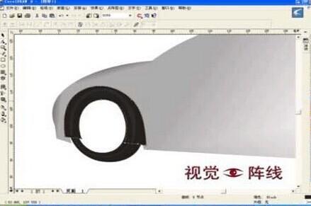手绘轮胎卡通造型