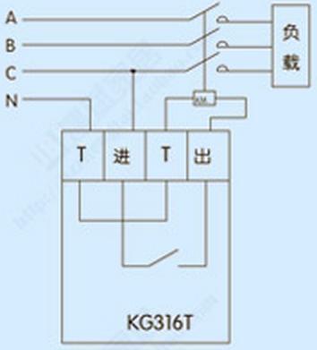 kg316t时控开关怎么和cjx28011交流接触器接线,最好有