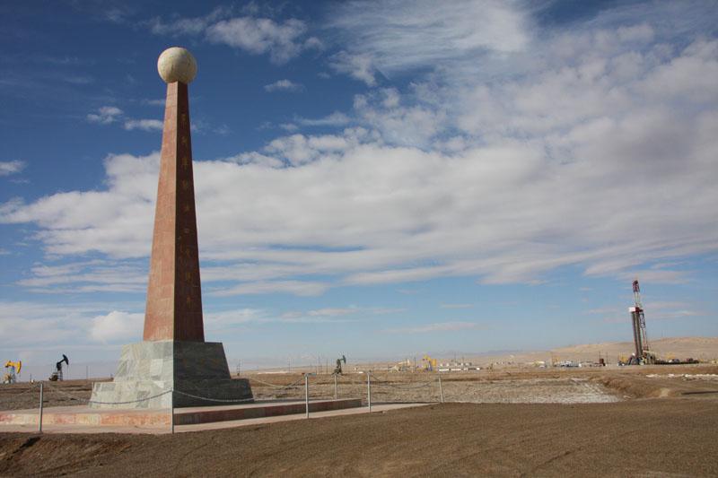 茫崖工行委尕斯库勒湖畔的发现井,于1977年6月27日被发现,是青海发现