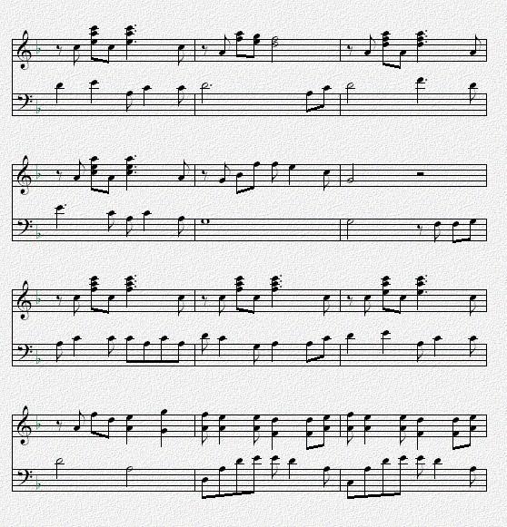 谁有昨日重现的钢琴谱