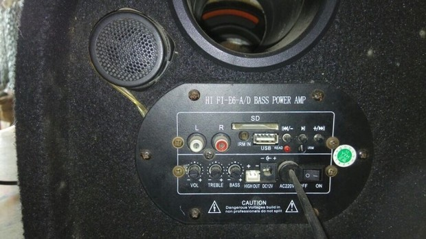 低音炮怎么接汽车 如图