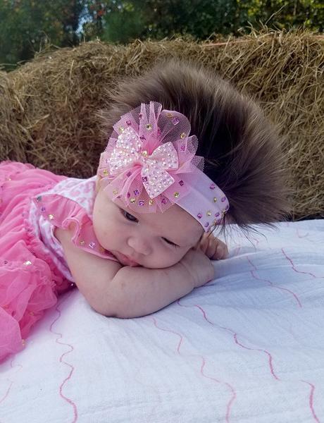 婴儿头发向上生长
