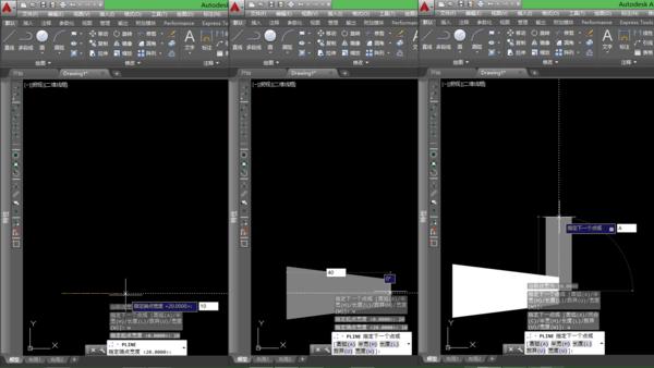 CAD画出由粗到细的多段线_360问答cad不打开墙体显示建筑图片
