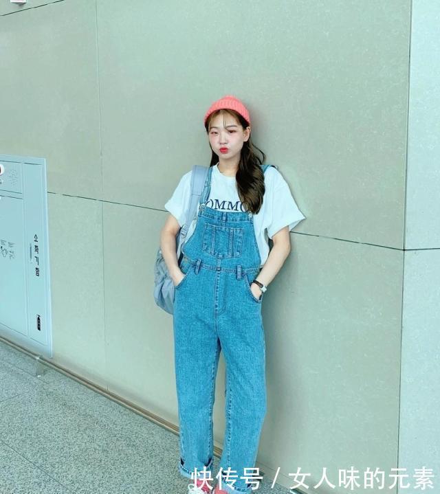 包子脸妹子凭穿搭走红ins,被封韩国欧阳娜娜?一笑眼睛眯成缝!