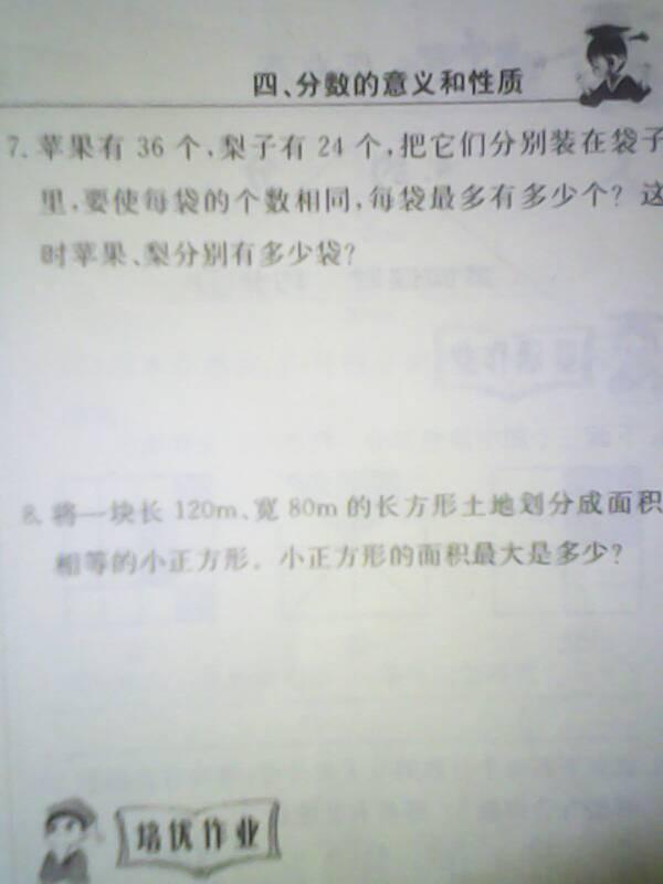 小学五年级下册数学黄冈练习册分数的意义和性