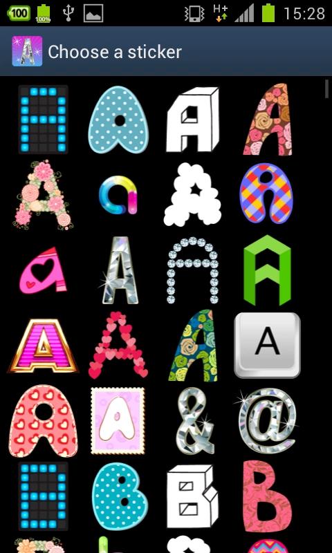 从a到z的字母超过20个不同的风格