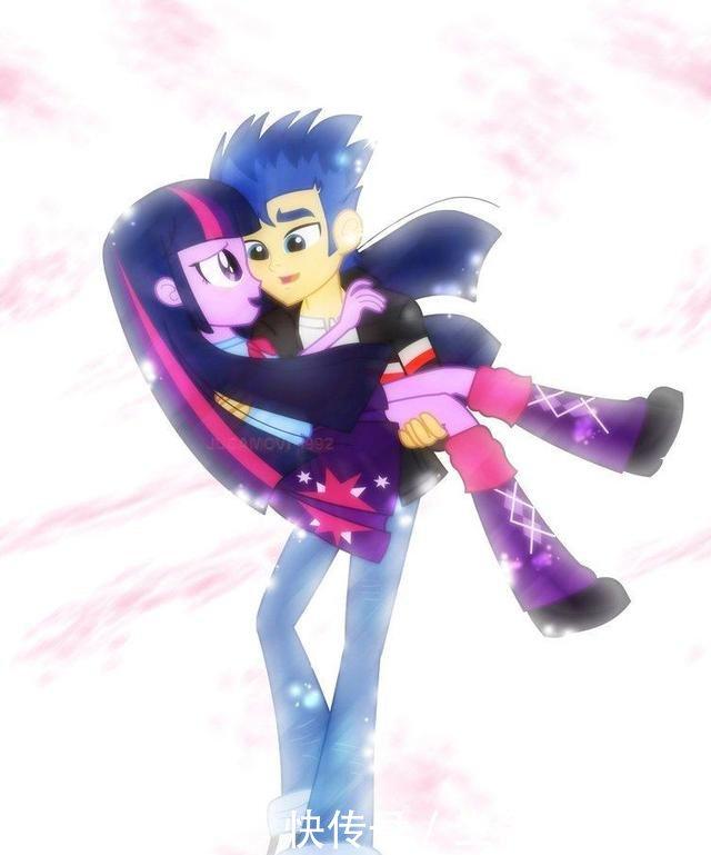 《阿坤漫画》漫画宝莉少女:彩虹与紫悦终于结小马小马不