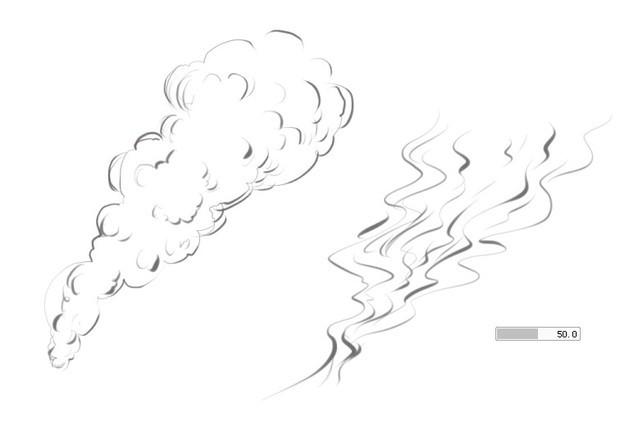 烟雾怎么画