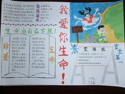 防溺水安全教育手抄报 带图图片