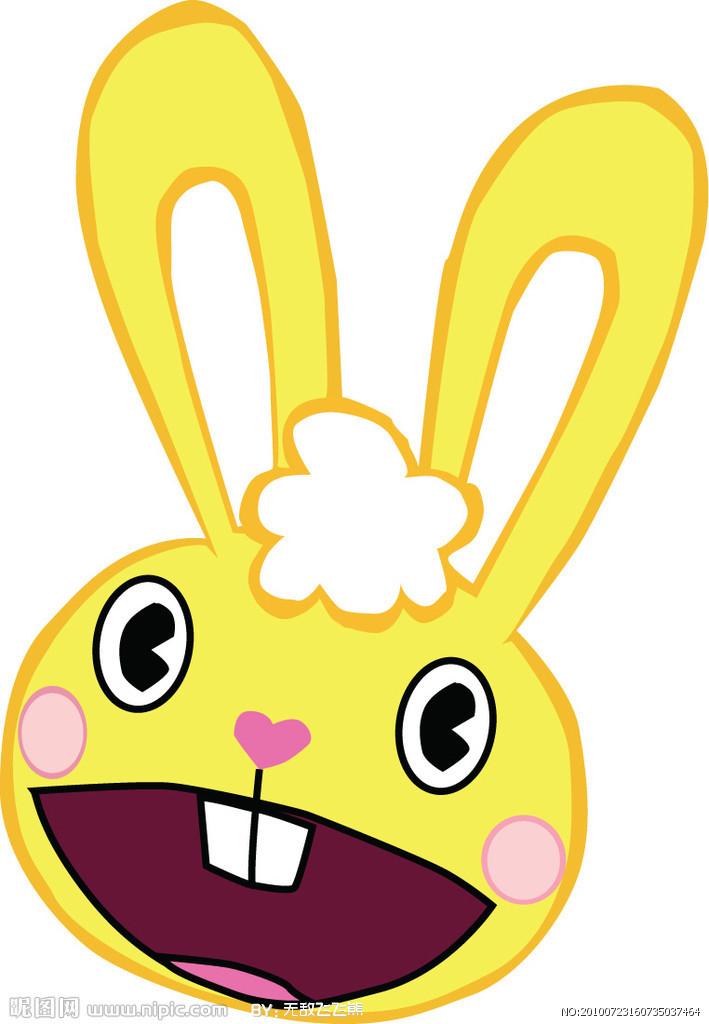 天真可爱的小兔子