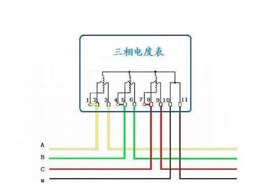 三相四线电表接线图电