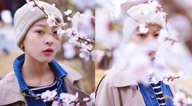 宋楠惜发布春季写真 灵动活泼酷感十足
