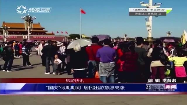 """""""国庆""""假期期间 居民出游意愿高涨"""