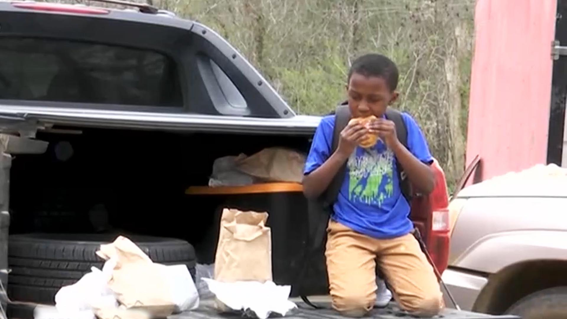 这些美国儿童 靠学校救济填饱肚子