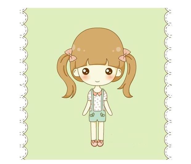 求画法简单用好看的小女孩图片