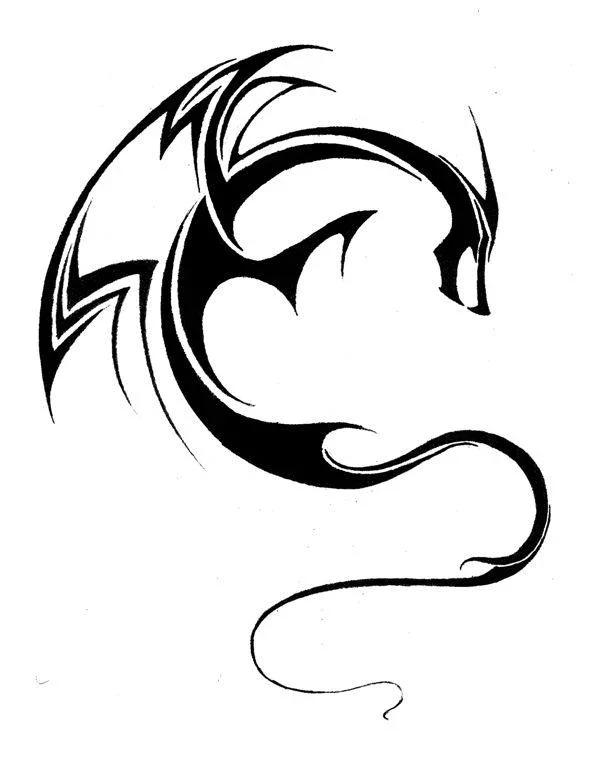 龙的简笔画内容|龙的简笔画图片