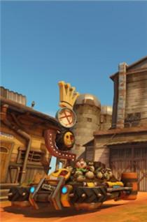《守望先锋》新地图渣客镇截图 狂鼠路霸的老家美景