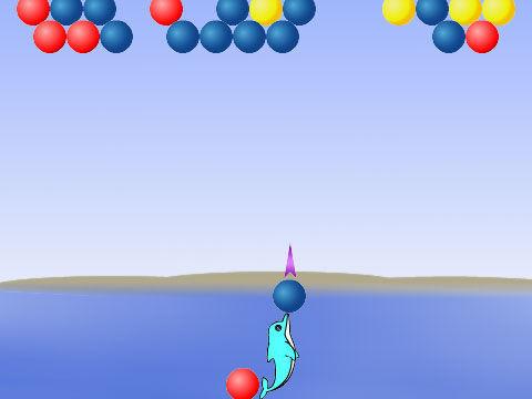 海豚简笔画彩色