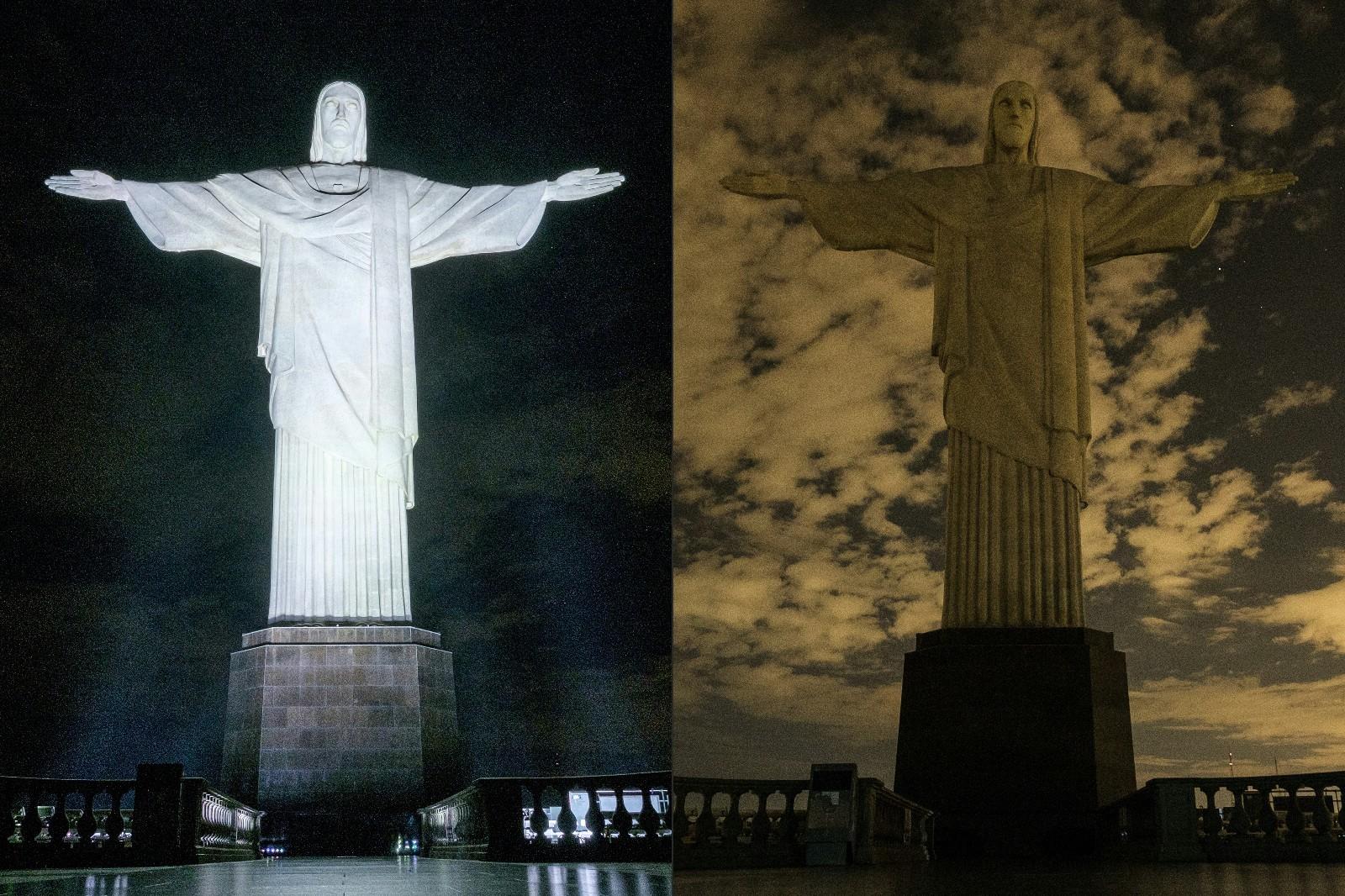 世界各地为地球熄灯一小时:熊猫为法国埃菲尔铁塔熄灯