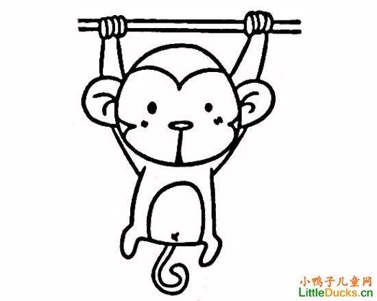 猴怎么画简笔画