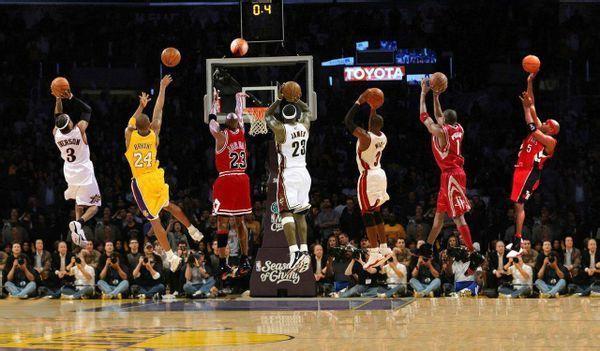请篮球迷给一组篮球明星的高清图片