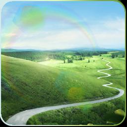 Dynamic Sun Grass Land Live Wallpaper