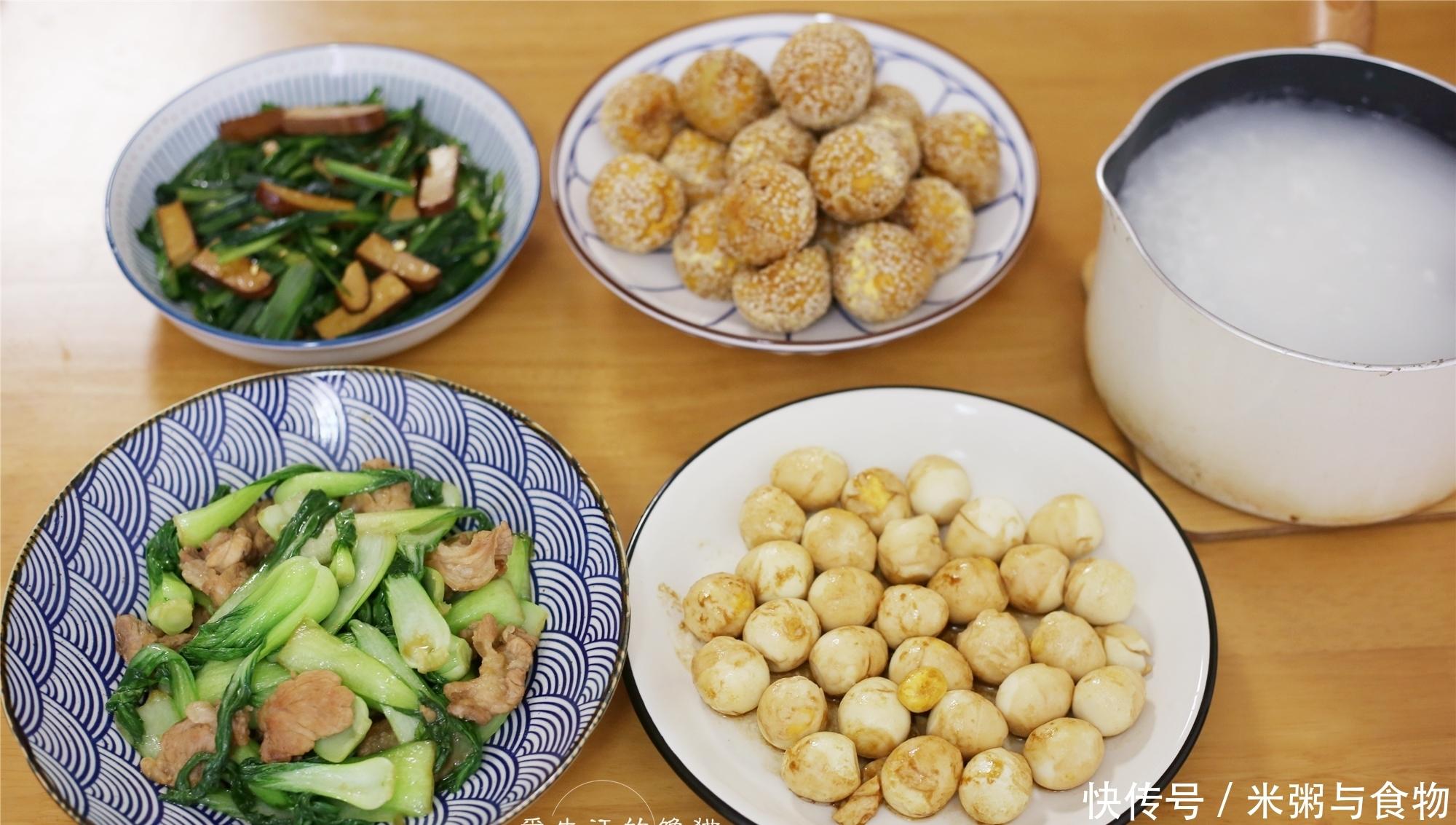 一家三口的早餐,有荤有素有点心,花半小时搞定,家人吃得很舒服