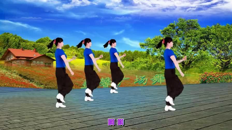 广场舞《九寨沟的春天》简单,轻快,美美哒