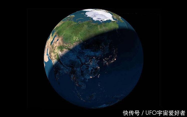 蓝色粒子地球psd素材