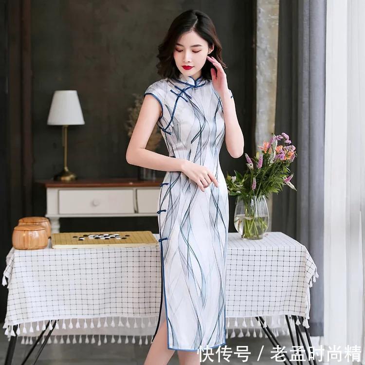 领略真丝魅力, 贴身可穿舒适真丝旗袍!