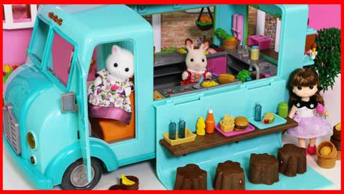 森贝儿家族的小动物们的快餐车玩具