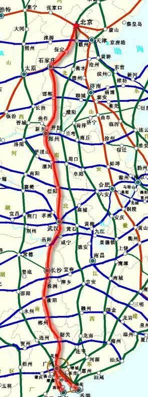 京珠高速公路图