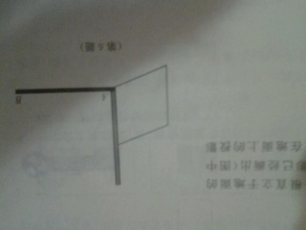 一块长方形木块紧靠着一根直立于地的木杆
