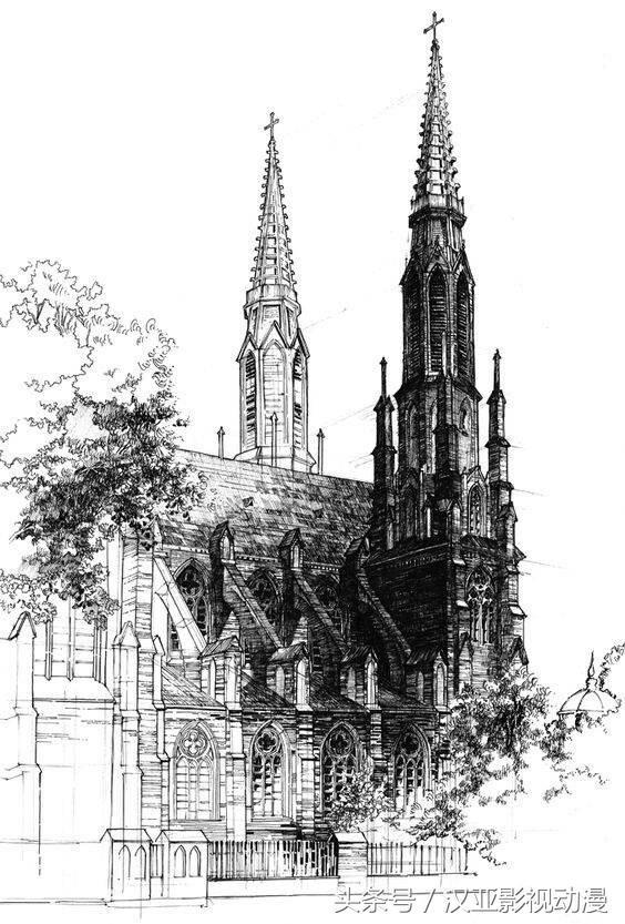 分享一组欧洲建筑钢笔画,喜欢吗?