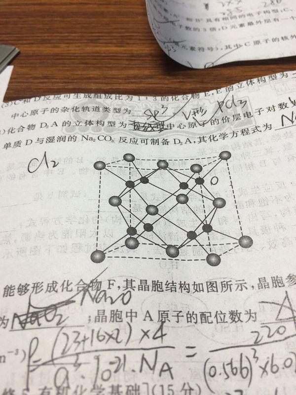 高中化学晶胞所示氧化钠的如图里钠原八中班昆高中特色图片