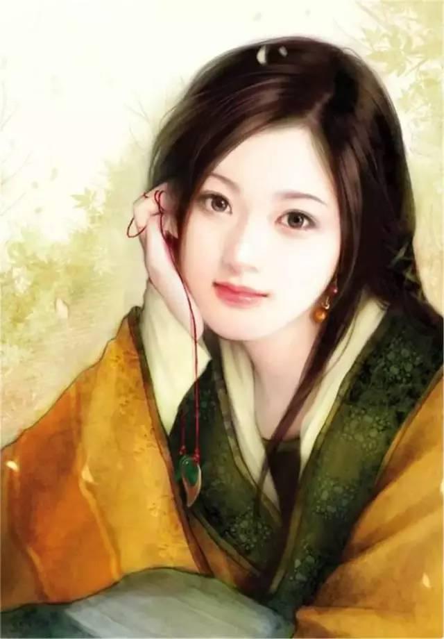 """古代未婚女子梳妆时喜爱""""贴黄花"""",或用黄色颜料在额头,两颊画成花纹"""
