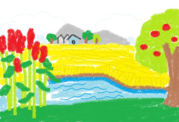 秋天的画怎么画二年级_秋天简笔画图片大全