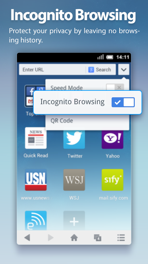 UC Browser Mini for Android截图8