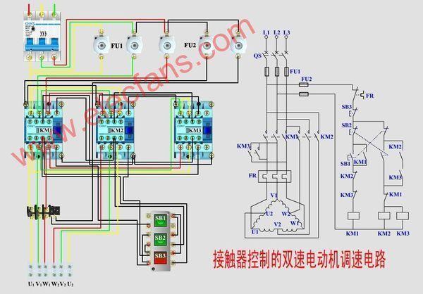 双速电机高低速电路图【相关词_双速电机高低速接线图