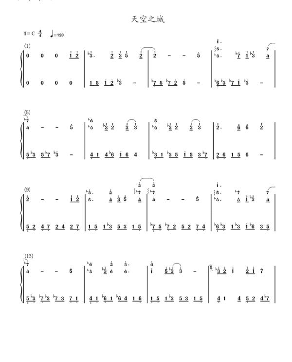 贝多芬卡农乐谱