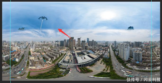 摄影VR全景航拍完美补天单独教程(PS苦手的燉魚膠的步驟图片